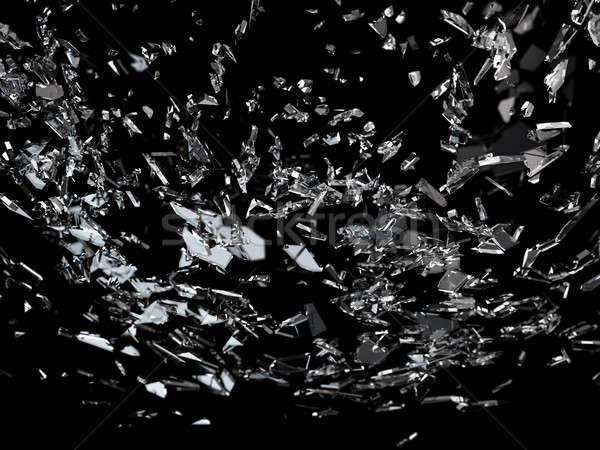 Pieces of broken or cracked glass  Stock photo © Arsgera