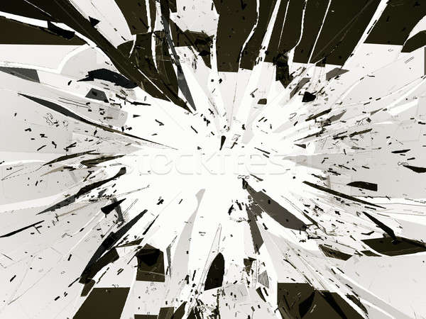 Demolished or Shattered glass isolated on white Stock photo © Arsgera