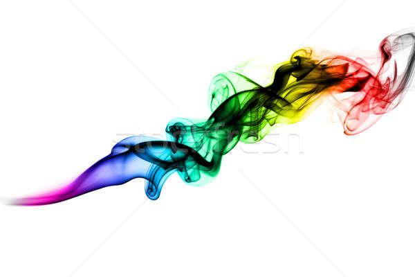 Multicolored Abstract puff of fume Stock photo © Arsgera