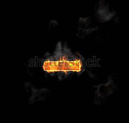 Burning and flame font minus symbol  Stock photo © Arsgera