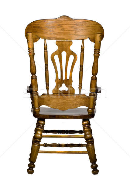Antique wooden chair rear view Stock photo © Arsgera