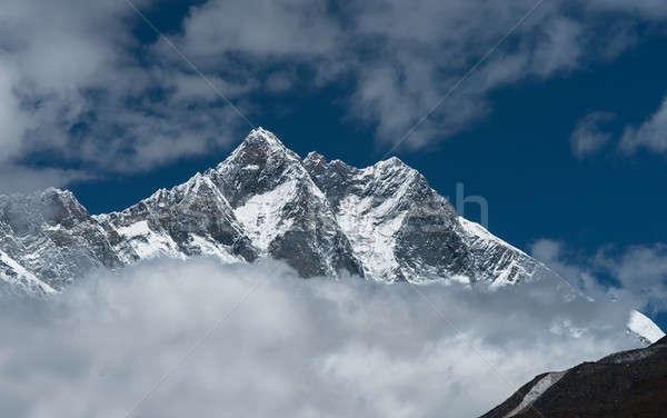 Lhotse, Lhotse shar peaks and cloudy sky in Himalaya Stock photo © Arsgera