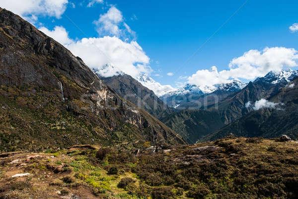 Himalája tájkép kirándulás Nepál természet hó Stock fotó © Arsgera