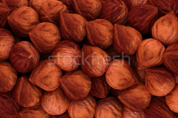 Hazel nuts texture or background Stock photo © Arsgera