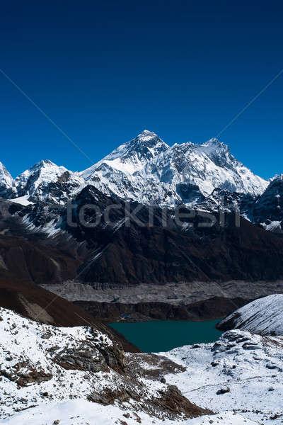 Everest göl köy dağ buz mavi Stok fotoğraf © Arsgera