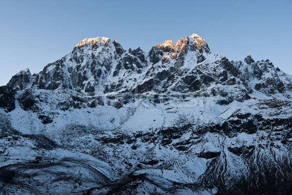 Sunrise in Himalayas near Gokyo Stock photo © Arsgera