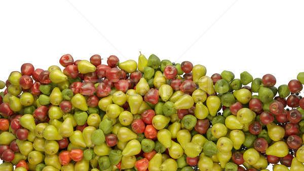 Mélange de fruits tas pommes poires isolé blanche Photo stock © Arsgera