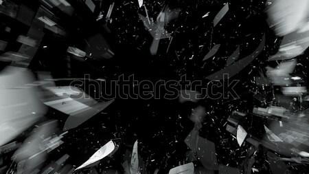 Törött üveg fekete bemozdulás nagy döntés tükör Stock fotó © Arsgera