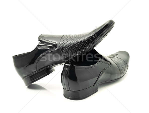 Pair of Classic Mens patent-leather shoes Stock photo © Arsgera