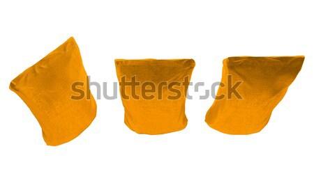 Tres dorado café té aislado blanco Foto stock © Arsgera