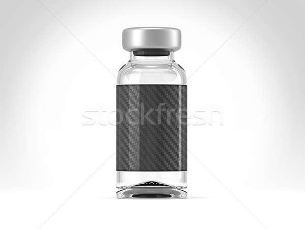 Single medical ampoule on white Stock photo © Arsgera