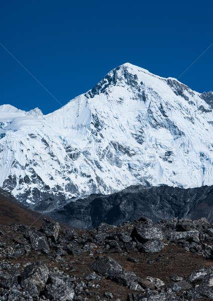 Cho oyu peak: one of the highest summits in Himalayas Stock photo © Arsgera