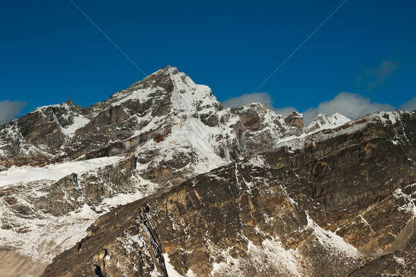 Gokyo Ri summit: view on mountains from the top Stock photo © Arsgera