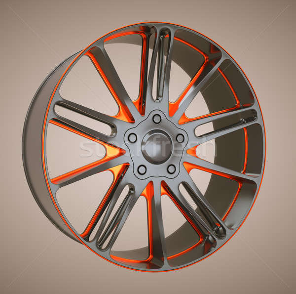 Alloy wheel or disc of sportcar Stock photo © Arsgera