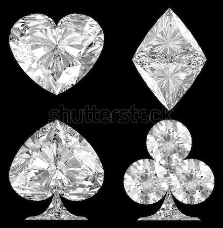 Five pointed, six point diamond stars Stock photo © Arsgera