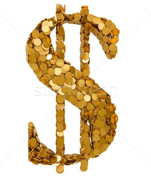 Americano dólar moeda símbolo moedas Foto stock © Arsgera