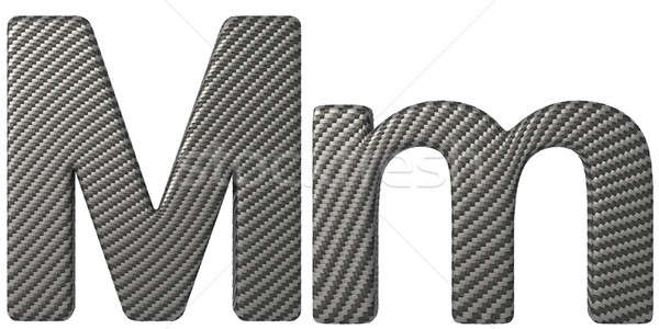 Carbon fiber font M lowercase and capital letters Stock photo © Arsgera