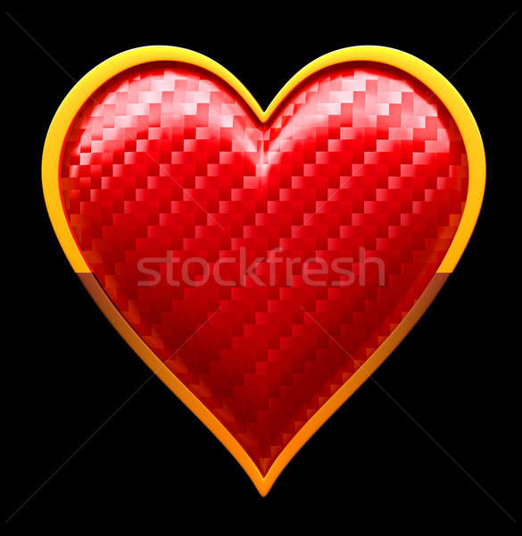 Hearts textured card suits over black Stock photo © Arsgera