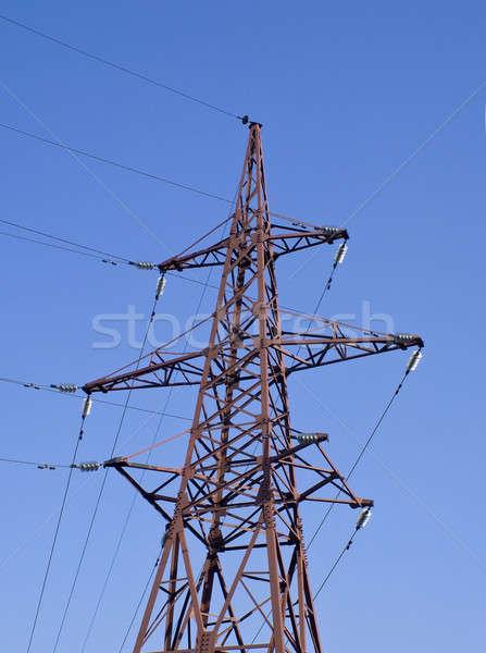 высокое напряжение электрических линия технологий промышленности кабеля Сток-фото © Arsgera