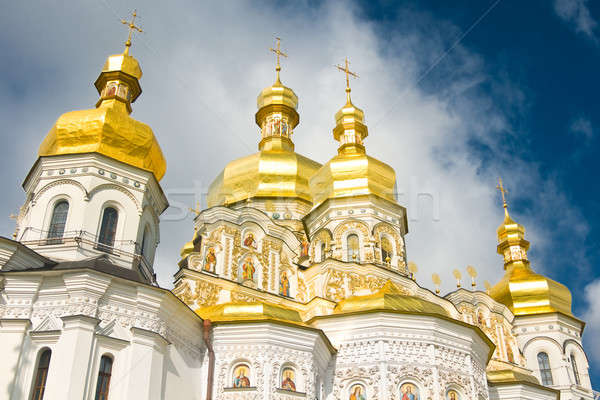 Cloudy sky and Cupola of Orthodox church Stock photo © Arsgera