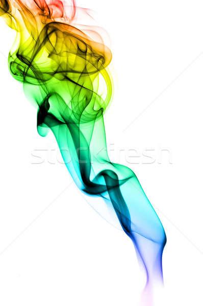 Abstract gradient fume pattern on white Stock photo © Arsgera
