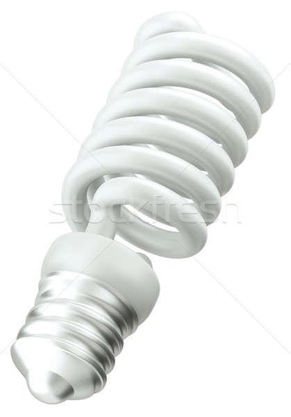 énergie efficace ampoule isolé blanche vert Photo stock © Arsgera