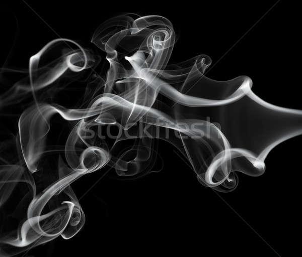 Abstracción blanco humo patrón negro luz Foto stock © Arsgera