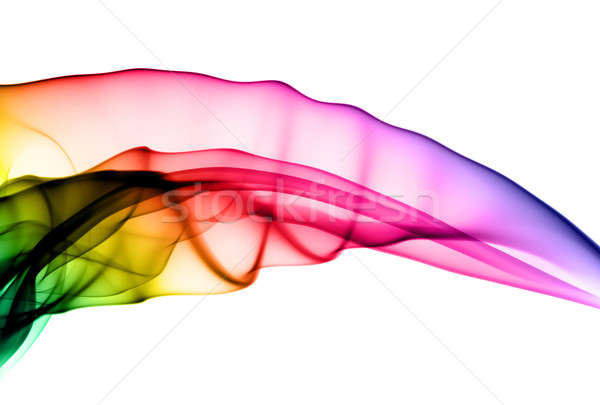 Abstract colorful fume swirl on white Stock photo © Arsgera