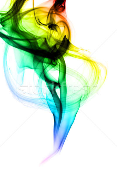Colorful Abstraction. Fume shape on white Stock photo © Arsgera
