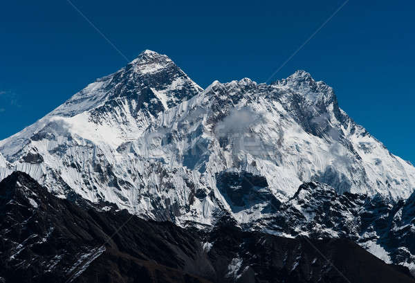 Everest, Nuptse and Lhotse peaks: top of the world Stock photo © Arsgera