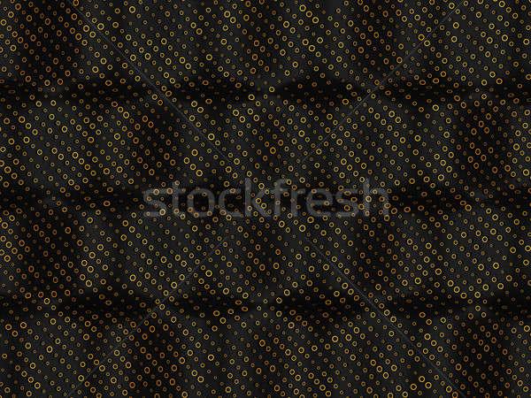 Golden circles over bumped black background Stock photo © Arsgera