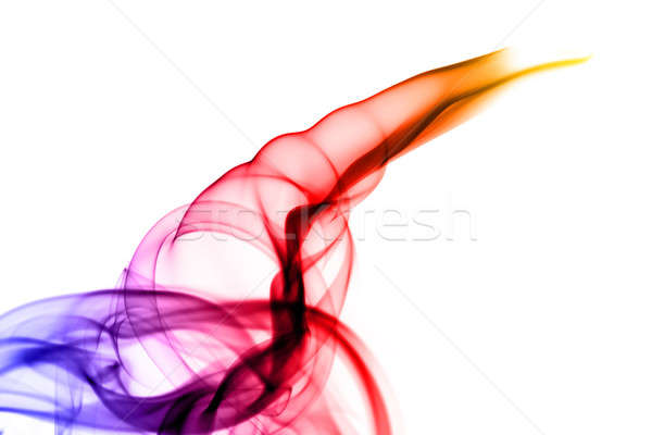 Fume shapes colored with gradient Stock photo © Arsgera