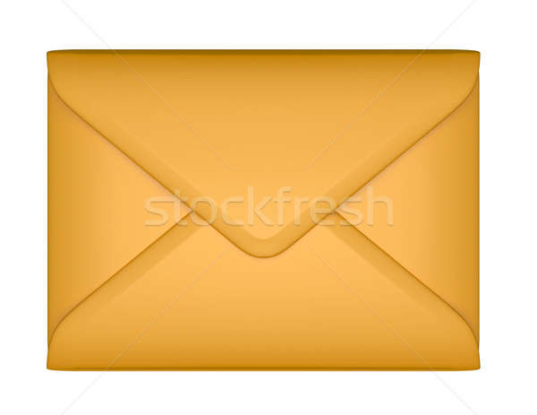 Mail and post - sealed paper envelope isolated Stock photo © Arsgera