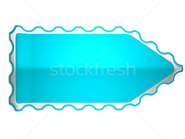Blue jagged sticker or label on white Stock photo © Arsgera
