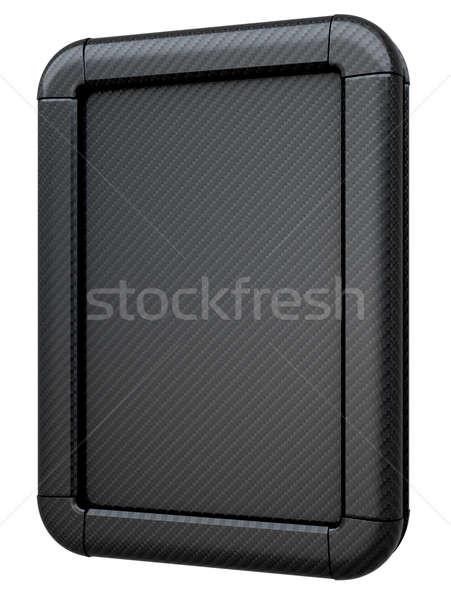 Carbon fibre lightbox or billboard isolated Stock photo © Arsgera