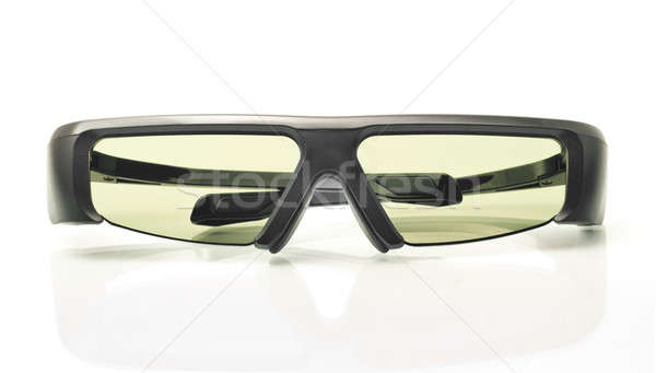 Stereo 3D TV: active shutter glasses on white Stock photo © Arsgera