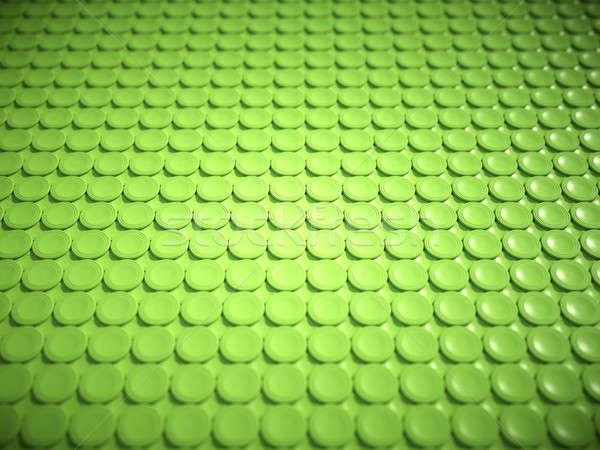Green bulging circles texture or background Stock photo © Arsgera
