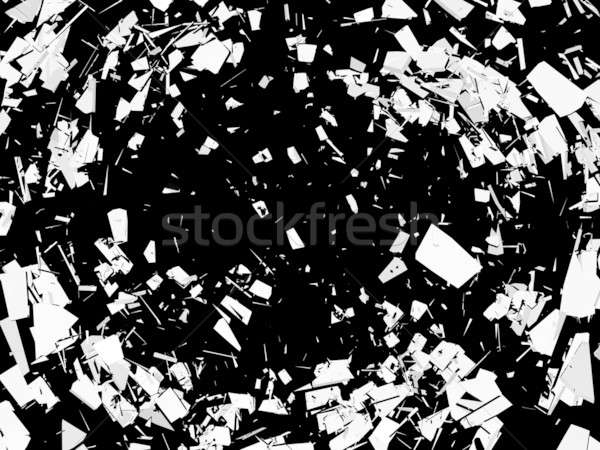 Accident: Pieces of broken glass over black Stock photo © Arsgera