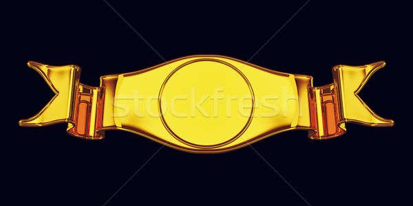 Gouden embleem label nuttig certificaat geïsoleerd Stockfoto © Arsgera