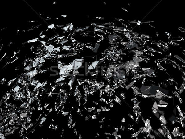 Pieces of splitted or cracked glass Stock photo © Arsgera