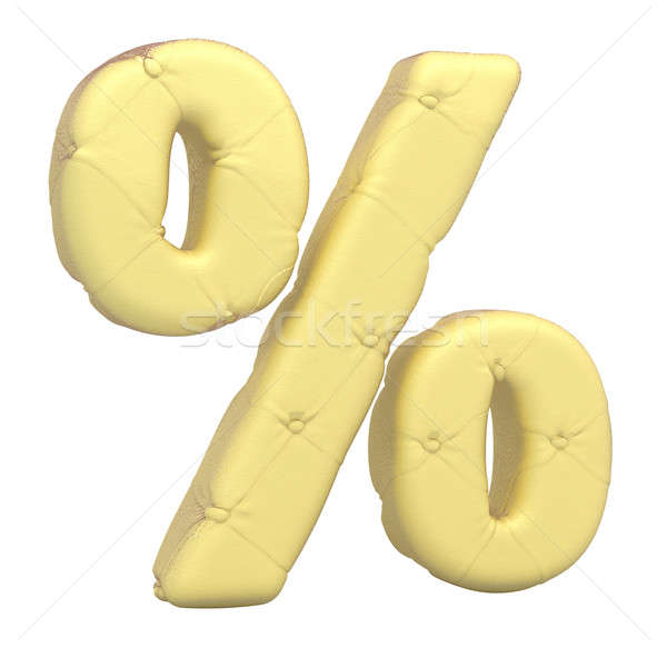 Luxury soft leather font percent symbol  Stock photo © Arsgera