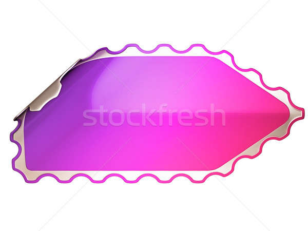 Colorful hamous sticker or label  Stock photo © Arsgera