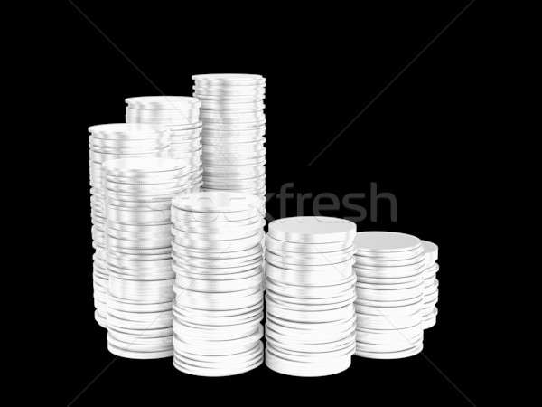 Growth: silver coins stacks spiral shape Stock photo © Arsgera
