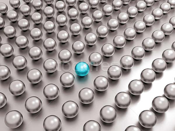 One unique blue pearl among common ones  Stock photo © Arsgera