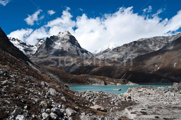 Sacred Lake near Gokyo in Himalayas Stock photo © Arsgera