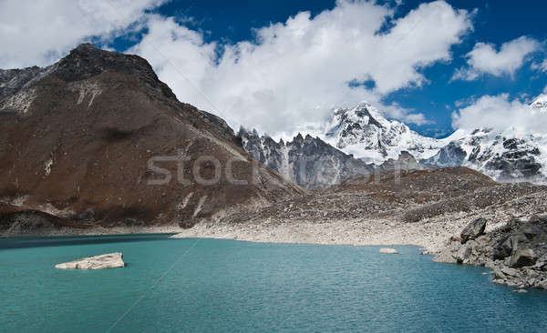 Sacred Lake and peaks not far from Gokyo in Himalayas Stock photo © Arsgera
