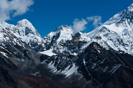 Everest, Changtse, Lhotse and Nuptse peaks in Himalaya Stock photo © Arsgera