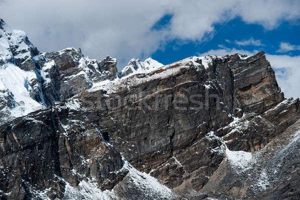 üst kayalar görmek yürüyüş Nepal Stok fotoğraf © Arsgera