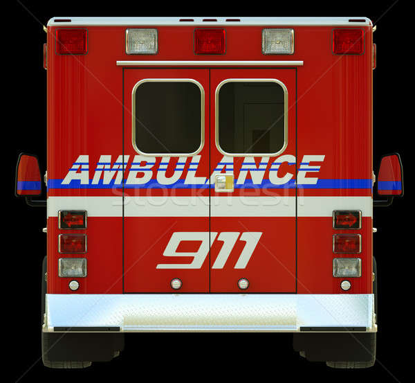 Ambulance: Rear view of emergency services vehicle Stock photo © Arsgera