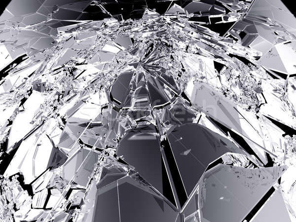 Stock photo: Pieces of demolished or Shattered glass